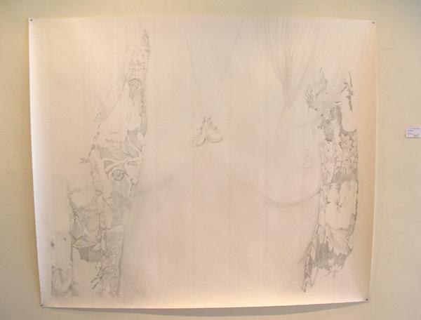 Anouk Griffioen - Zonder Titel - 122x145cm Grafiet op papier
