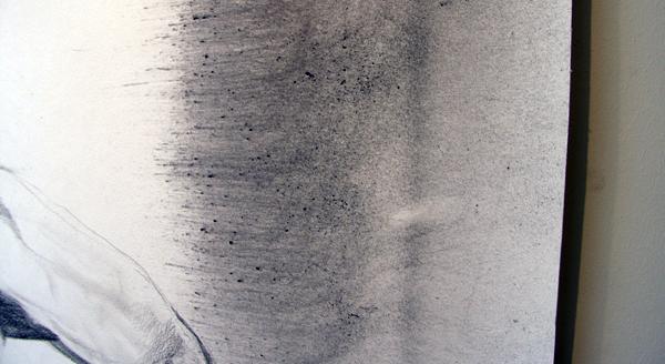 Anouk Griffioen - Zonder Titel - 205x80cm Grafiet en krijt op papier (detail)