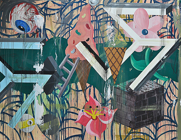 Frat of the Obese 2 - 213x274cm Acrylverf op canvas