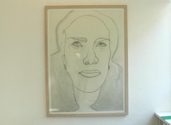 Rosemin Hendriks - Zonder titel - Houtskool en conté op papier