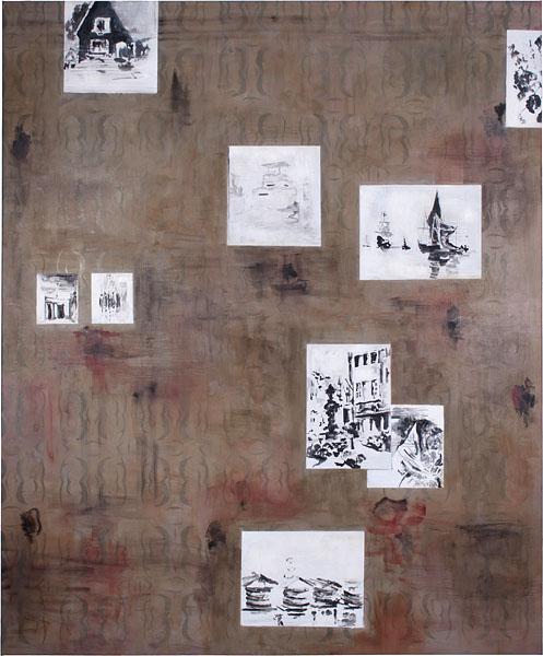Wall Piece - 180x150cm Olieverf op canvas