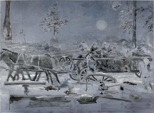 Winter Landscape - 160x220cm Olieverf op canvas