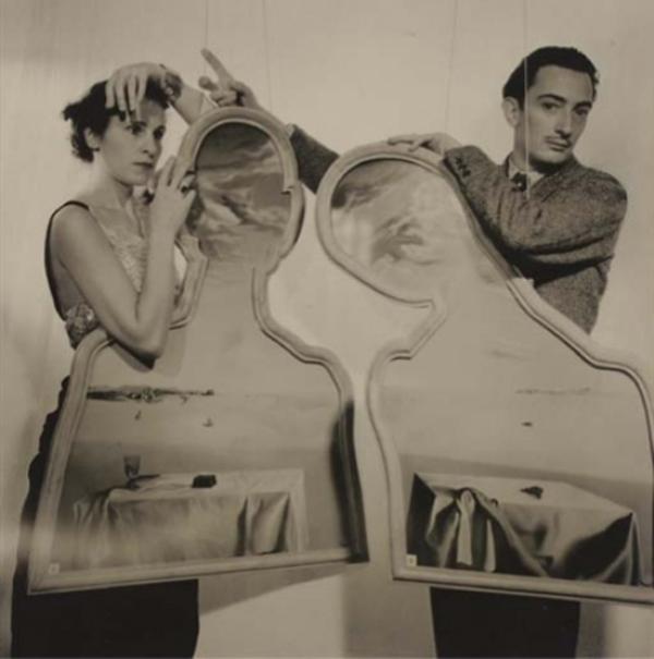 Salvador Dali - werk waarvan ik de titel niet kan achterhalen maar Olieverf op Shaped Canvas