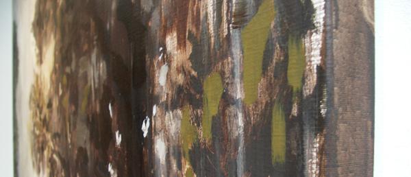 Sven Verheaghe - Land of Sheep I - 150x200cm Olieverf op doek (detail)