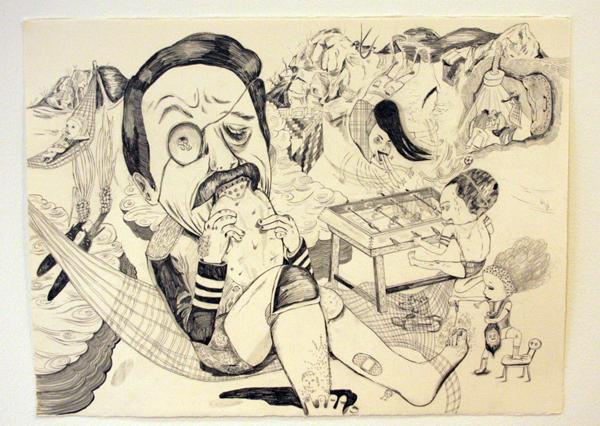 Chiaki Kamikawa - Onbekende Titel - Potlood op papier