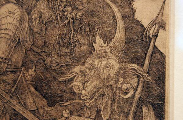Albrecht Dürer - Ridder Dood en Duivel (detail)