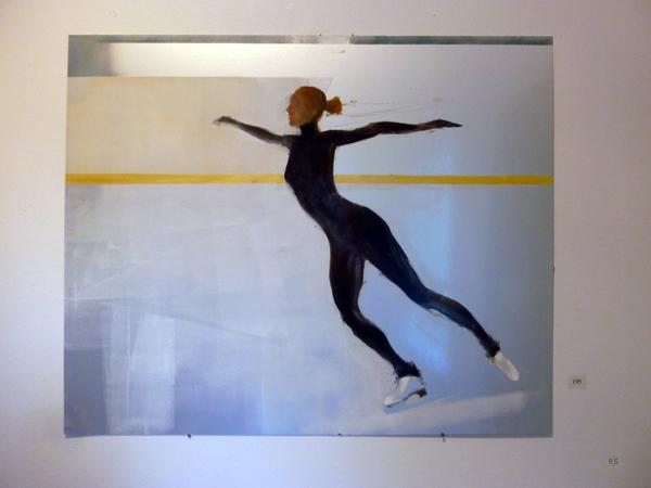 Jan Neva - Skater - Olieverf op aluminium