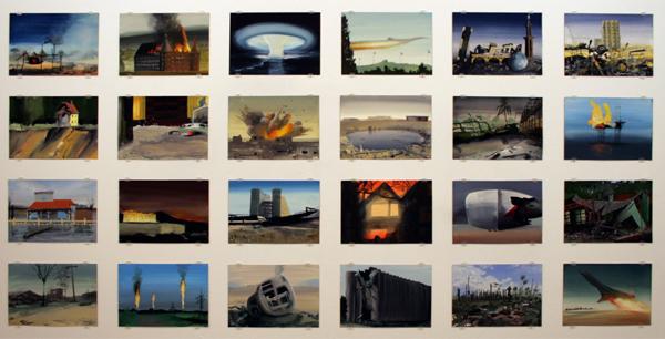 Olphaert den Otter - Various Works (World Stress Painting Serieus) - 18x26cm Eitempera op papier