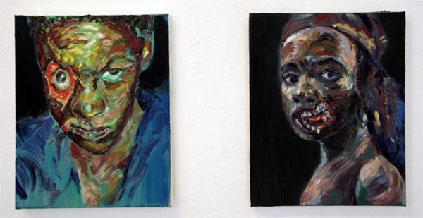 Ron Amir - Untitled - 24x30cm Olieverf op linnen