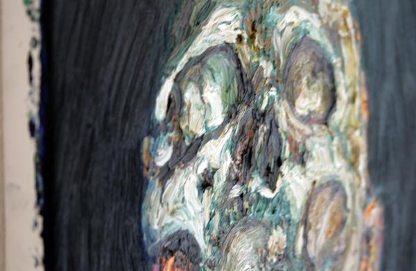 Ron Amir- Untitled - 30x40cm Olieverf op linnen (detail)