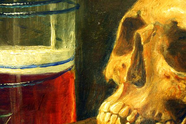Cornelis le Mair - Stilleven (vanitas) (detail)
