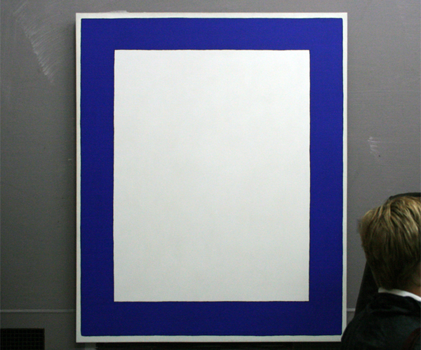 JCJ VANDERHEYDEN - Blauw Kader - Polyvinylacetaatverf en eitempera op doek