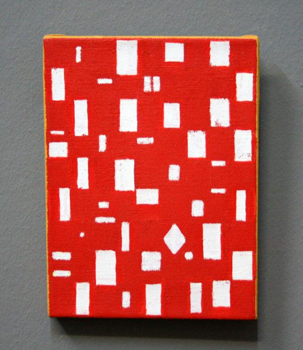 JCJ VANDERHEYDEN - Klein Rood - Acrylverf op doek