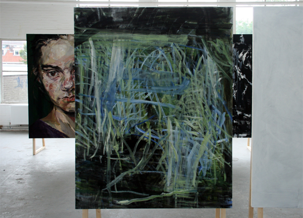Paul Isphording - Zonder titel - Spieraam en linnen