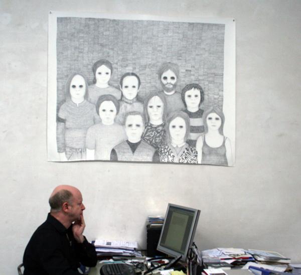Sebastiaan Schlicher - Ecstacy of Thruth - 150x244cm Potlood op papier