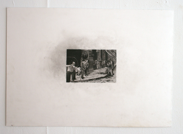 Andreas Albrectsen - American Absense in Italy - 50x70cm Graftiet op papier