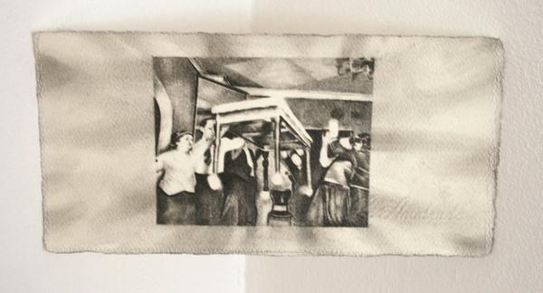 Andreas Albrectsen - Untitled- 50x70cm Graftiet op papier