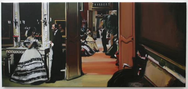 Hans Broek - Sketch for 'Party' - 50x109cm Olieverf op doek