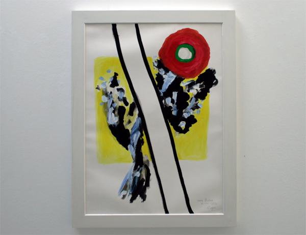Roger Raveel - Een gelukkige Dag - 80x58cm Gemengde techniek op papier, gekleefd op doek