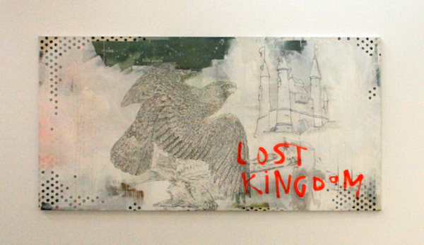 Stief Desmet - Lost Kingdom - 200x100cm Arcylverf spuitbus en potlood op canvas