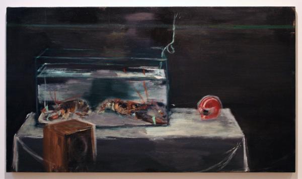 Aaron van Erp (1978) - Vanitas met helm - Olieverf op doek