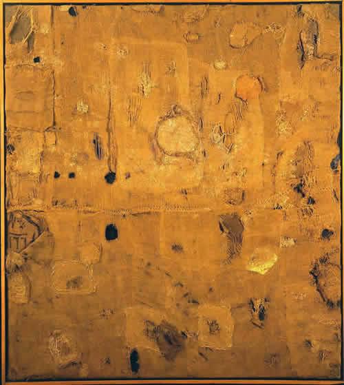 Alberto Burri - Sacco e Oro - 1953