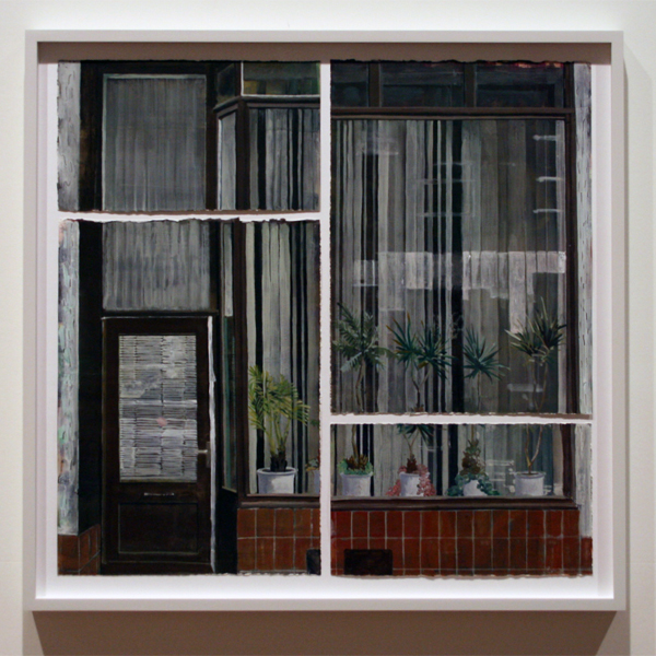 Arjan van Helmond (1971) - Window #13 - Gouache en acrylverf op papier