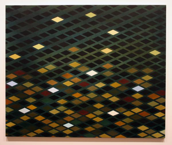 Malin Persson (1978) - Broken Surface - Inkt en olieverf op doek