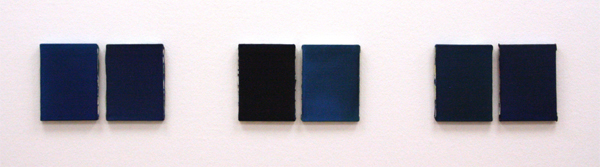 Marthe Wéry - Calais 95 petit serie bleue - Acrylverf op doek
