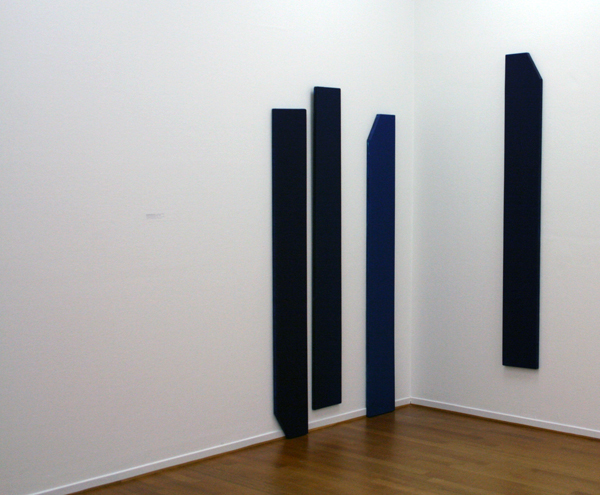 Marthe Wéry - Composition bleu fonce - Acrylverf op doek