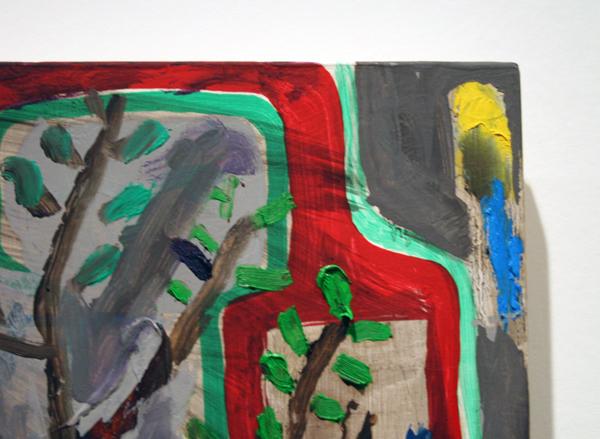 Derk Thijs (1977) - Innervision - Acrylverf en olieverf op multiplex (detail)