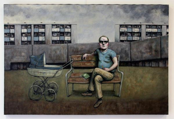 Elmer de Gruijl - De ongepubliceerde poeeet - Acrylverf op canvas 130x90cm