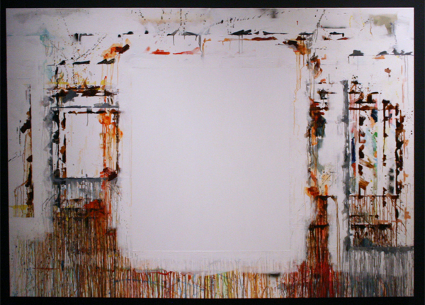 Gijs van Lith - Blank Canvas A Paintings Womb - 200x280cm Olieverf, acrylverf en spuitbus op doek