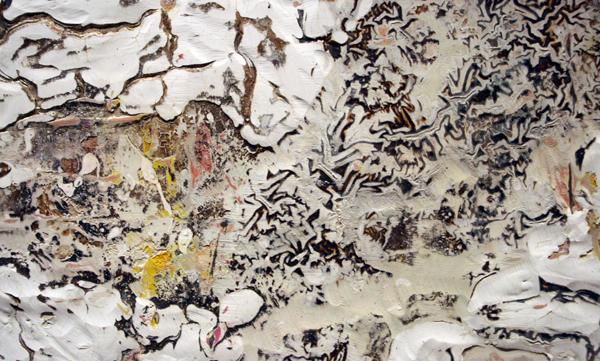 Gijs van Lith - Physical Dialog - 190x210cm Olieverf, acrylverf, alkyd en spuitbus op canvas (detail)
