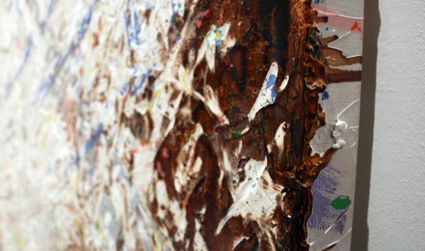 Gijs van Lith - Walhalla - 200x300cm Olieverf, acrylverf, alkydverf en spuitbus op canvas (detail)