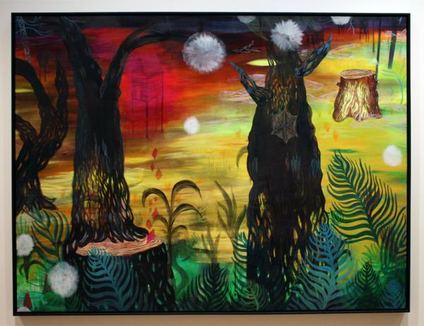 Marie Aly (1980) - Drei Eichen - Olieverf op doek