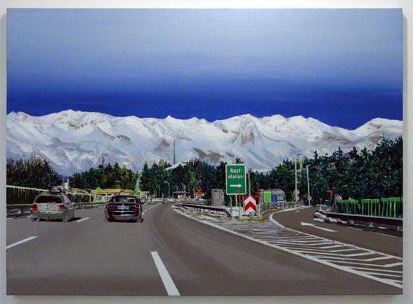 Yujin Kang - Going to Innsbruck - 73x100cm Acrylverf op canvas