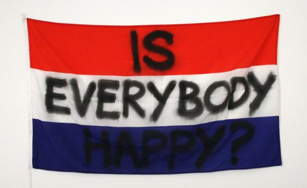 75B - Is everybody happy - Spuitbus op stof