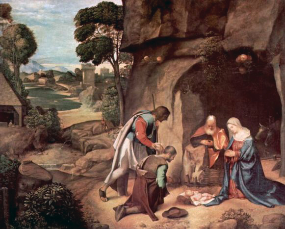 Giorgione - Aanbidding door de herders