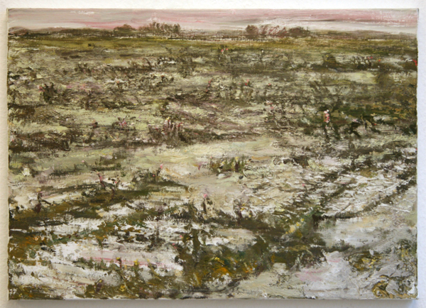 Han Klinkhamer - Winterslandschap - 50x70cm Olieverf op doek