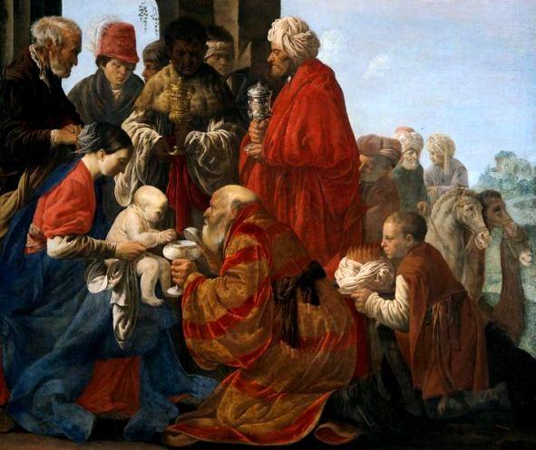Hendrik ter Brugghen - Aanbidding door de drie wijzen uit het Oosten