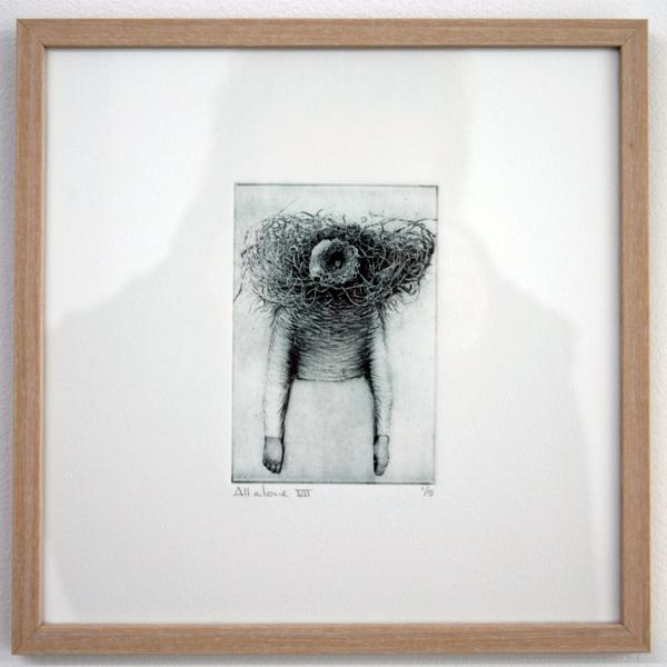 Hillegon Brunt - All Alone - 20x20cm Toyoboprint