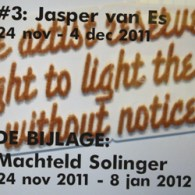 Op het aller maar dan ook echt allerlaatste nippertje kwam ik nog Kunstpodium T binnen lopen rond half 6. Juist op het moment dat Jasper van Es (1982) zijn werk […]