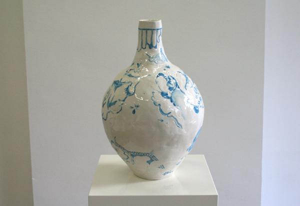 Niels Broszat - Durch Elise - 40x26cm Porselein