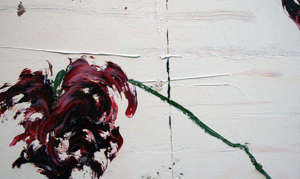 Ronald Zuurmond - Waterkant - 130x140cm Olieverf op doek (detail)