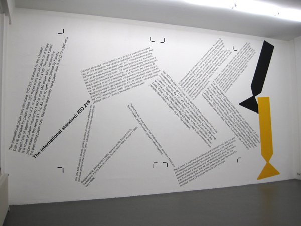 Angela Bulloch - ISO216 (Rules Series) - Gouache op muur