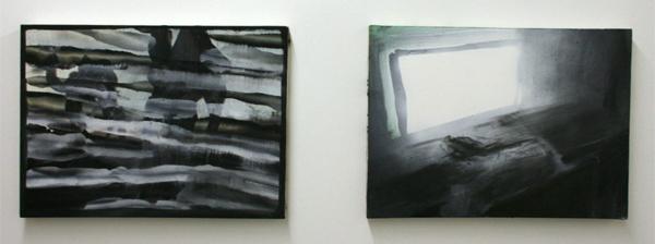 Jop Vissers - Abu Dhabi-ti & Digitale reincarnatie - 40x55cm Acrylver, Olieverf en spuitbus op canvas