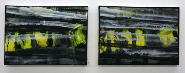 Jop Vissers - Ruis geweld - 40x55cm Olieverf en spuitbus op canvas