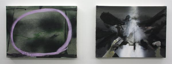 Jop Vissers - Stoepkrijt & Road Kill Origami met #2 - 40x55cm Acrylverf, olieverf, spuitbus en stoepkrijt op canvas
