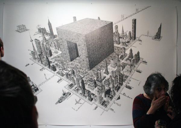 Rik Smits - Square Park Island - 240x350cm Potlood op papier